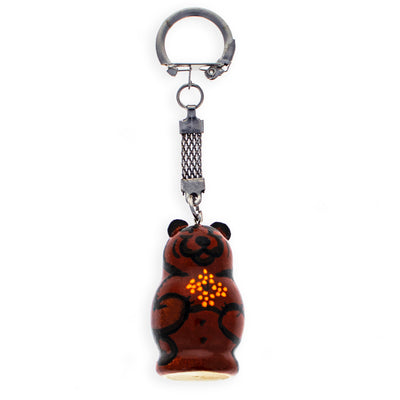 Brown Bear Wooden Key Chains 4 Inches by BestPysanky