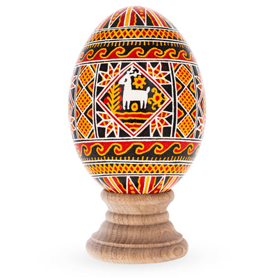 Goose Size Real Blown Out Ukrainian Easter Egg 3.4 Inches by BestPysanky