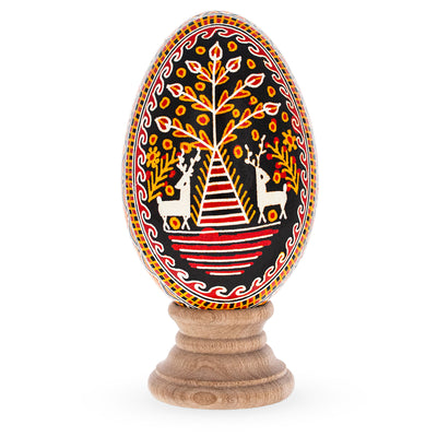 Goose Size Real Blown Out Ukrainian Easter Egg 3.6 Inches by BestPysanky
