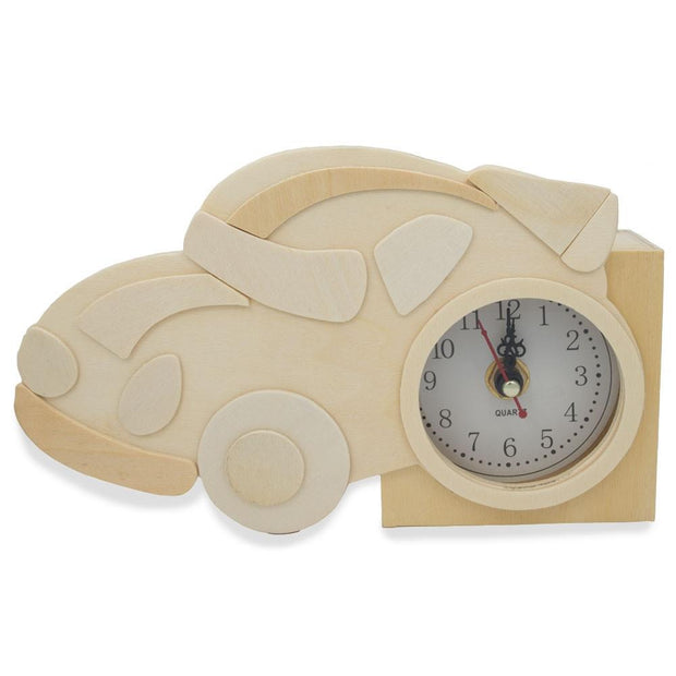 Buy Online Gift Shop Race Car Clock Craft Kit Unfinished Wooden Shape Craft Cutout DIY Unpainted