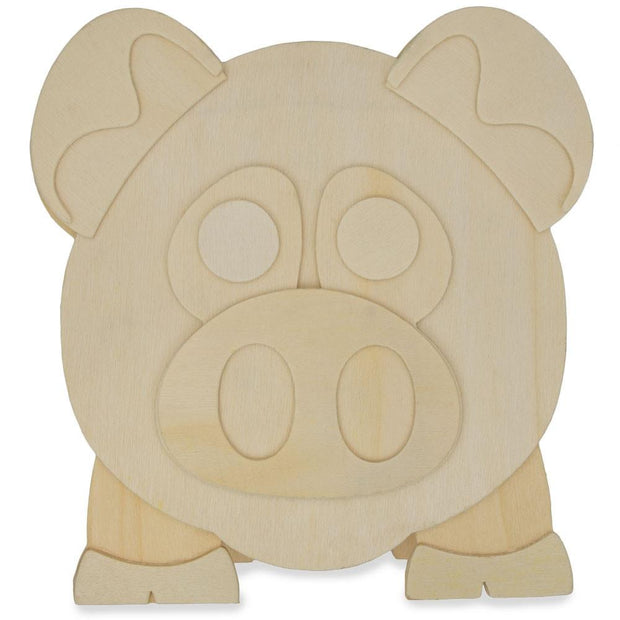 Buy Online Gift Shop Piggy Bank Craft Kit Unfinished Wooden Shape Craft Cutout DIY Unpainted