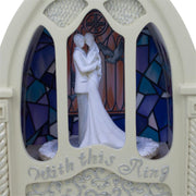 Buy Online Gift Shop Wedding Ceremony in Chapel LED Rotating Music Box Figurine 6.75 Inches