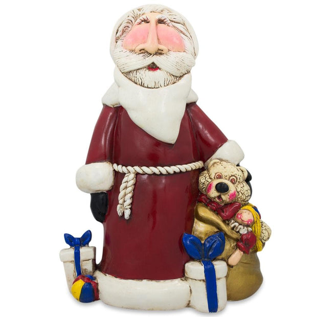 Santa with Gifts Resin Figurine 7.5 Inches by BestPysanky