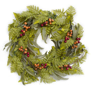 Fern and Berry Christmas Wreath 20 Inches by BestPysanky