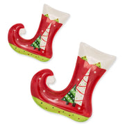 Set of 2 Christmas Plate Stockings- Ceramic Serving Dishes by BestPysanky
