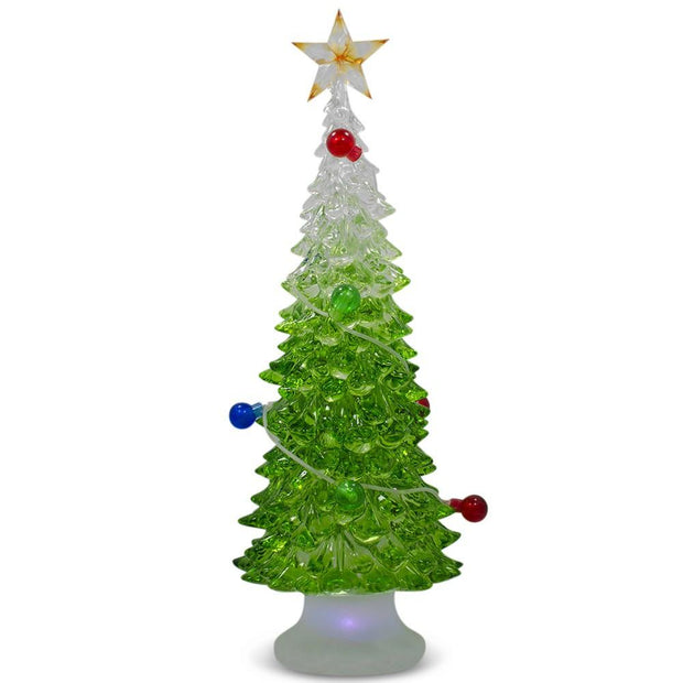 LED Acrylic Plastic Tabletop Christmas Tree 9 Inches by BestPysanky