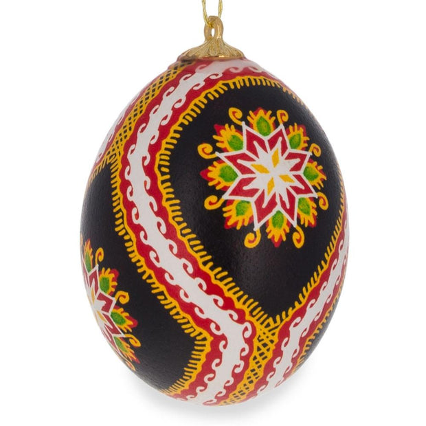 Set of Three Real Eggshell Pysanky Ukrainian Easter Egg Christmas Ornaments 2.5 Inches