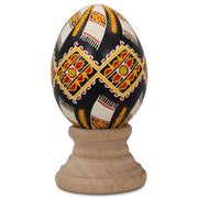 Towels Real Blown out Eggshell Ukrainian Easter Egg Pysanka by BestPysanky