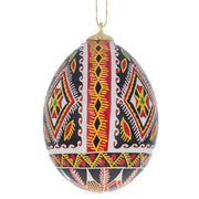 Real Blown out Eggshell Pysanka Ukrainian Easter Egg Ornament by BestPysanky