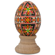 BestPysanky Easter Eggs > Pysanky > Goose - Tyshiv Chicken Size Blown Real Ukrainian Easter Egg Pysanky