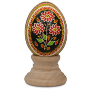 Flower Bouquet Chicken Size Blown Real Ukrainian Easter Egg Pysanky | BestPysanky