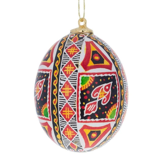 Fish Real Blown out Eggshell Pysanka Ukrainian Easter Egg Ornament by BestPysanky