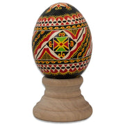 Mateiky Chicken Size Blown Real Ukrainian Easter Egg Pysanky | BestPysanky
