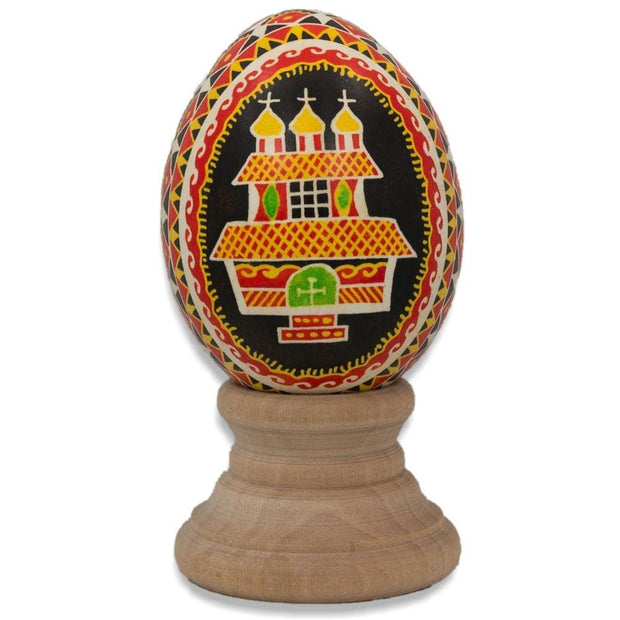 Hutcul Church Real Blown out Eggshell Pysanka Ukrainian Easter Egg by BestPysanky