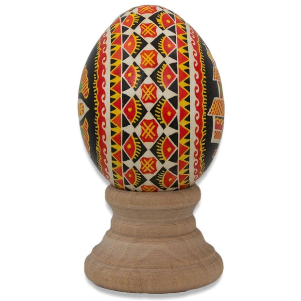 BestPysanky Easter Eggs > Pysanky > Goose - The Hutcul Church Chicken Size Blown Real Ukrainian Easter Egg Pysanky