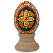 Hutcul Church Real Blown out Eggshell Pysanka Ukrainian Easter Egg