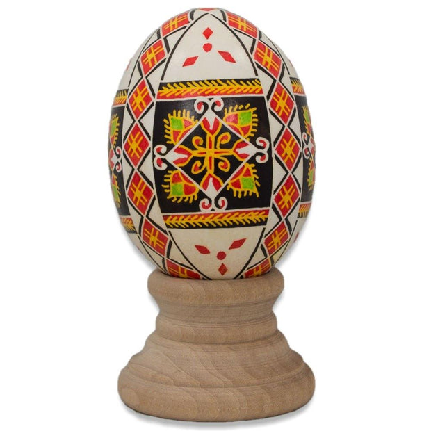 Berehova Chicken Size Blown Real Ukrainian Easter Egg Pysanky by BestPysanky