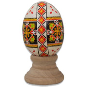 BestPysanky Easter Eggs > Pysanky > Goose - Berehova Chicken Size Blown Real Ukrainian Easter Egg Pysanky