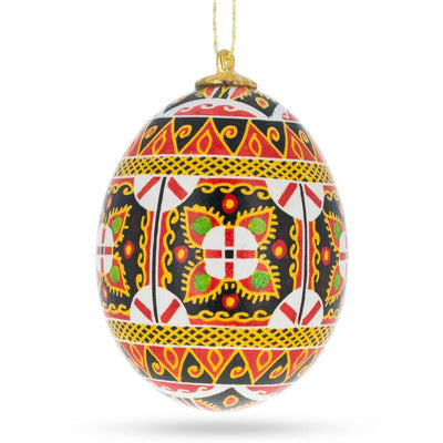 Hollow Real Blown out Eggshell Pysanka Ukrainian Easter Egg Ornament by BestPysanky