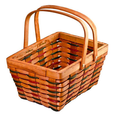 Woodchip Red & Green Weave Basket by BestPysanky