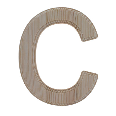Unfinished Wooden Arial Font Letter C (6.25 Inches) by BestPysanky