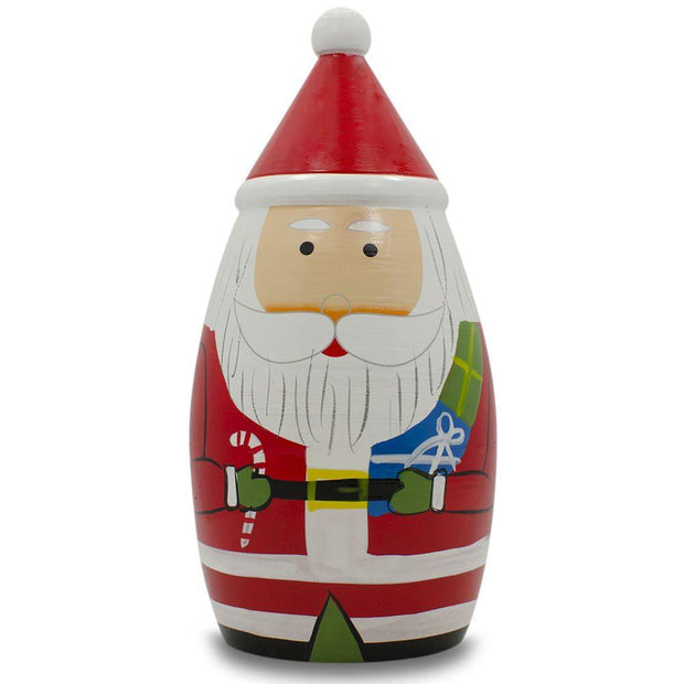 Buy Online Gift Shop Set of 5 Multicolor Santa with Christmas Gifts Wooden Nesting Dolls 5.5 Inches