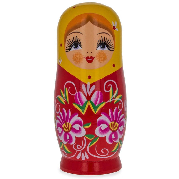 Matryoshka Wooden Russian Nesting Doll Piggy Bank 6.5 Inches by BestPysanky