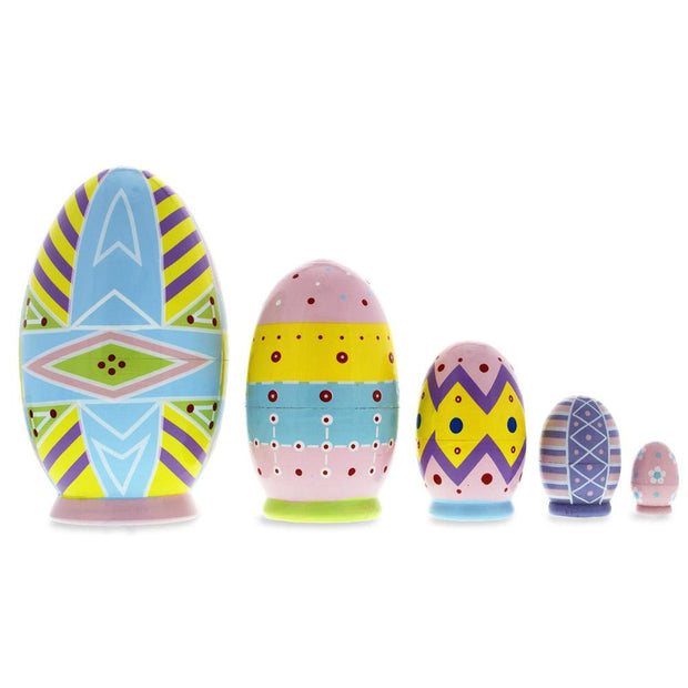 Buy Online Gift Shop Set of 5 Ukrainian Easter Eggs Pysanky Wooden Nesting Dolls 5 Inches