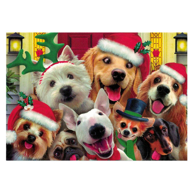 It's Christmas! Smiling Dogs Greeting Card by BestPysanky