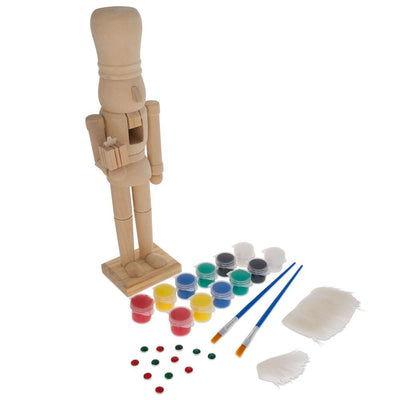 Unfinished Wooden Nutcracker DIY Craft Kit 12 Inches by BestPysanky
