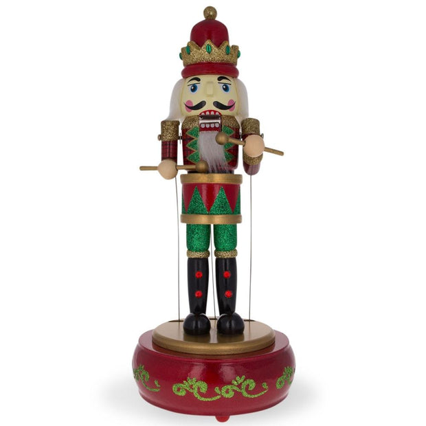 Animated Nutcracker with Moving Arms & Music Box 13 Inches by BestPysanky