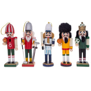 5 Sport Players Nutcrackers: Football, Golfer, Baseball, Basketball, Soccer by BestPysanky