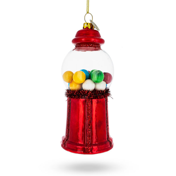 Candy Machine Blown Glass Christmas Ornament