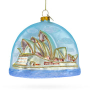 Sydney Opera House Glass Christmas Ornament 4 Inches (101.6 mm) by BestPysanky
