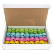 Set of 36 Colorful Plush Baby Chicks 1.25 Inches