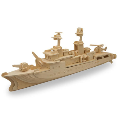 Navy Battleship Destroyer Boat Model Kit Wooden 3D Puzzle 13 Inches Long by BestPysanky