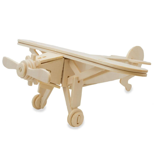 High Wing Propeller Airplane Model Kit Wooden 3D Puzzle by BestPysanky