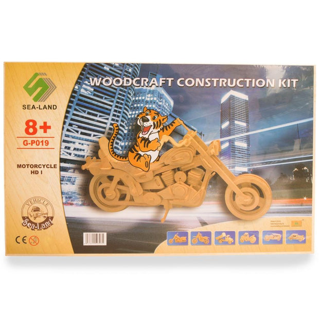 Motorcycle Model Kit Wooden 3D Puzzle