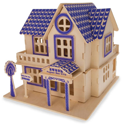 Family Home House Building Model Kit Wooden 3D Puzzle by BestPysanky