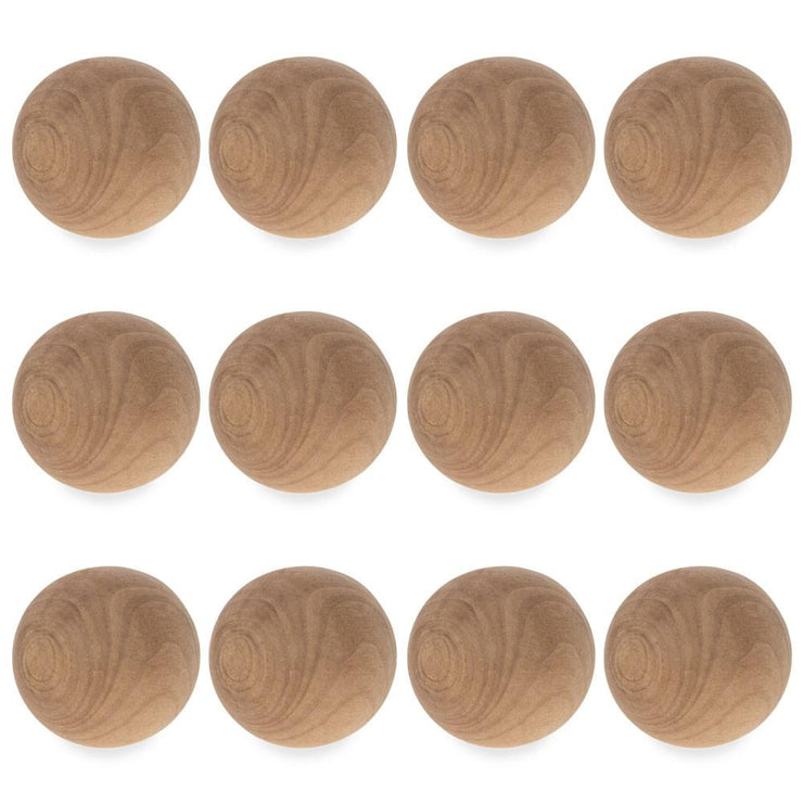 12 Balls Unfinished Wooden Craft DIY Unpainted1.5 Inches by BestPysanky