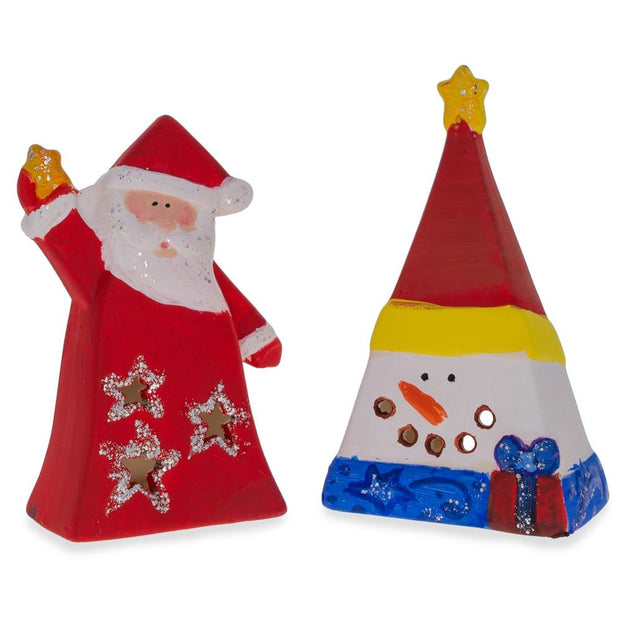 Buy Online Gift Shop 4 White Blank Unfinished Figurines Paint your Own Christmas DIY Craft Kit