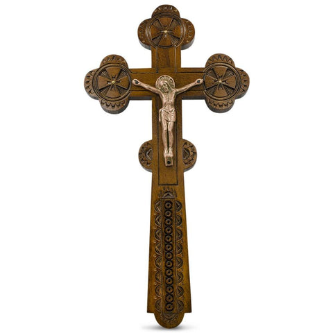 "BestPysanky Religious > Crosses & Crucifixes - 11"" Ukrainian Wooden Wall Crucifix"