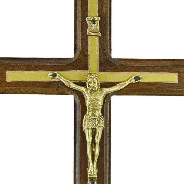 "8.5"" Carved Ukrainian Wooden Wall Crucifix 