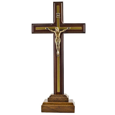Wooden Hand Carved Standing Crucifix 10 Inches by BestPysanky