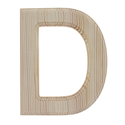 Unfinished Wooden Arial Font Letter D (6.25 Inches) by BestPysanky