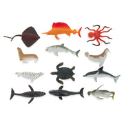 Set of 12 Miniature Assorted Resin Sea Animals Figurines 2 Inches by BestPysanky