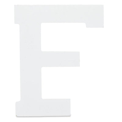 Courier Font White Color Wooden Letter F (6 Inches) by BestPysanky