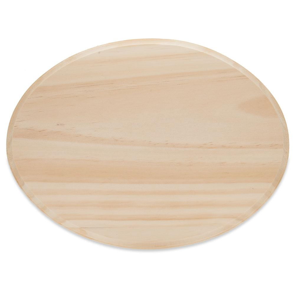 Oval Unfinished Wooden Shape Craft Cutout DIY Unpainted Plaque 12 Inches