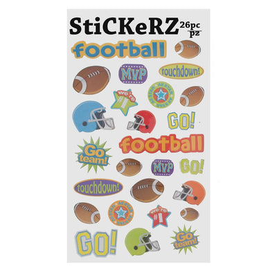 26 Pieces Football Word Stickers by BestPysanky