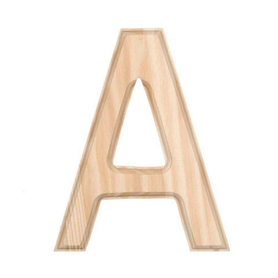 Unfinished Wooden Letter A 6 Inches by BestPysanky